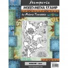 Stamperia Cling Mounted Natural Rubber Stamps - Vintage Map, Sir Vagabond