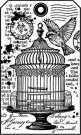 Stamperia Cling Mounted Natural Rubber Stamps - Little cage
