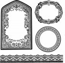 Stamperia Cling Mounted Natural Rubber Stamps - Frames and borders
