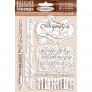 Stamperia High Definition Natural Rubber Stamps - Calligraphy