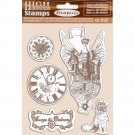 Stamperia High Definition Natural Rubber Stamps - Flying Ship, Lady Vagabond