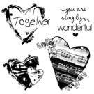 Stamperia Cling Mounted Natural Rubber Stamp - Together Hearts