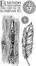 Stamperia Cling Mounted Natural Rubber Stamps - Cosmos Feather