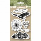 Stamperia Cling Mounted Natural Rubber Stamps - Eagle