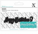 Xcut Mini Decorative Sentiment Dies - Happy Birthday
