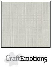 CraftEmotions Linen Cardstock - Pastel Cream (100 sheets)
