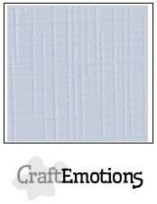 CraftEmotions Linen Cardstock - Classic White (100 sheets)