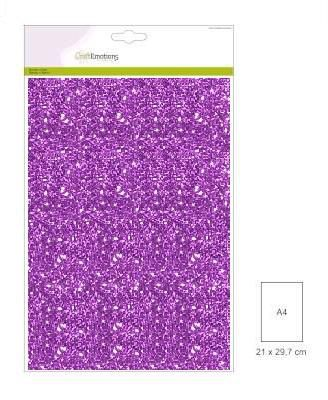 CraftEmotions Glitter Paper - Purple (5 sheets)