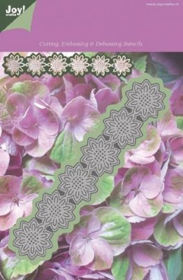 Joy Crafts Cutting, Embossing & Debossing Stencil - Flower 10 Leaves
