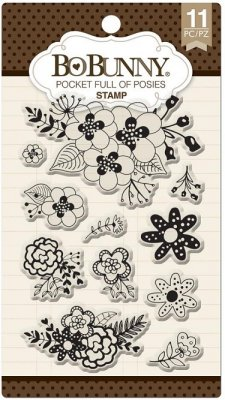 Bo-Bunny Essential Stamps - Pocket Full Of Posies