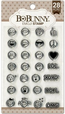 Bo-Bunny Essential Stamps - Emoji