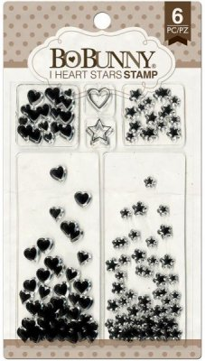 Bo Bunny Clear Stamp Set - I Heart Stars