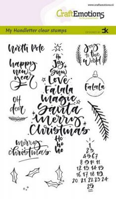 CraftEmotions A6 Clearstamp Set - Christmas Handletter #1