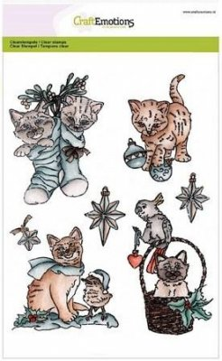CraftEmotions A5 Clearstamp Set - Christmas Pets #2