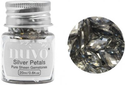 Nuvo Pure Sheen Gemstones - Silver Rectangles (20ml)