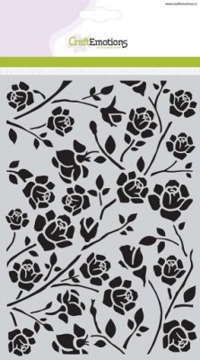 CraftEmotions A5 Mask Stencil - Botanical Roses