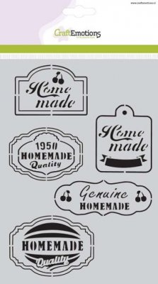 CraftEmotions A5 Mask Stencil - Fifties Kitchen Labels