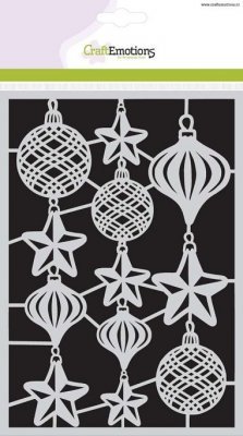 CraftEmotions A5 Mask Stencil - Christmas Balls
