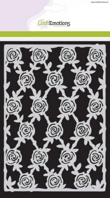 CraftEmotions A5 Mask Stencil - High Tea Rose Rose Trellis
