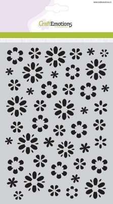 CraftEmotions A5 Mask Stencil - Fantasy Flower