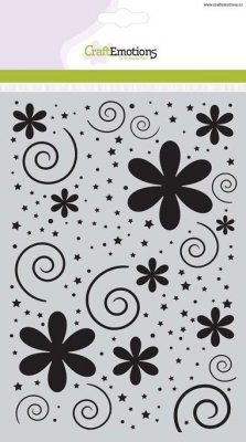CraftEmotions A5 Mask Stencil - Dots and Stars