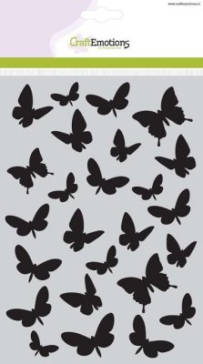 CraftEmotions A5 Mask Stencil - Butterflies
