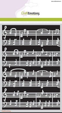 CraftEmotions A5 Mask Stencil - Music Bars