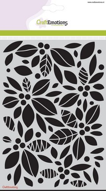 CraftEmotions A5 Mask Stencil - Background Floral