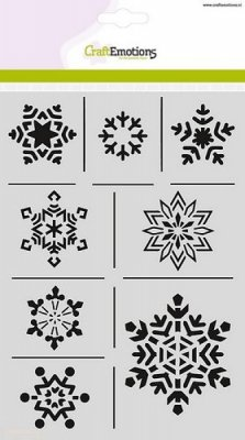 Craftemotions A5 Mask Stencil - Christmas Nature Ice Crystals
