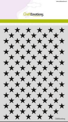 CraftEmotions A5 Mask Stencil - Background Stars