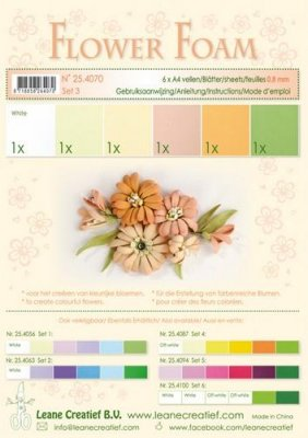 Lecrea A4 Flower Foam Pack #3 - Salmon (6 sheets)