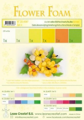 Lecrea A4 Flower Foam Pack #4 - Yellow (6 sheets)