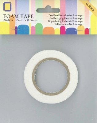 Hobbyjournaal Foam tape - 2m x 12mm x 0.5mm