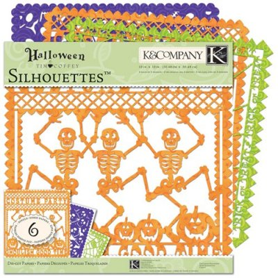 "K & Company 12"" x 12"" Specialty Silhouettes Halloween Collection Die Cut Paper Pack (6 sheets)"