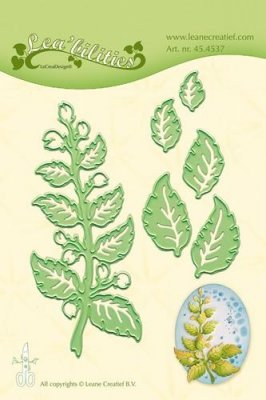 LeCrea Cut And Embossing Dies - Twig & Leaves