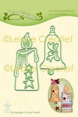 LeCrea Lea'bilitie Cut and Emboss Die - Candle & Bell Combi