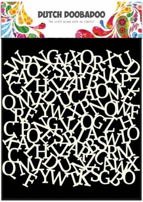 "Dutch Doobadoo 6""x6"" Mask Art Stencil - Alphabet"