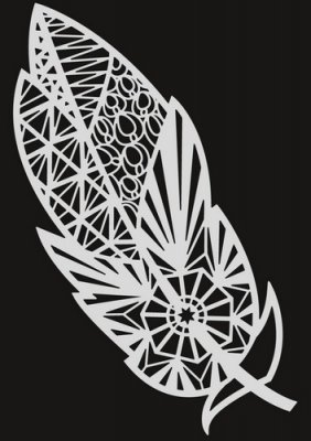 Pronty A5 Mask Stencil - Feather Zentangle