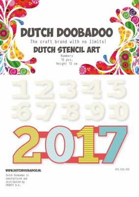 Dutch Doobadoo Mask Art Stencil - Numbers 0-9