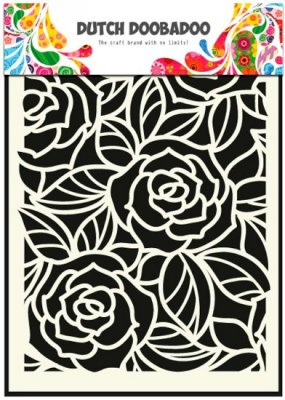 Dutch Doobadoo A5 Mask Art Stencil - Big Roses