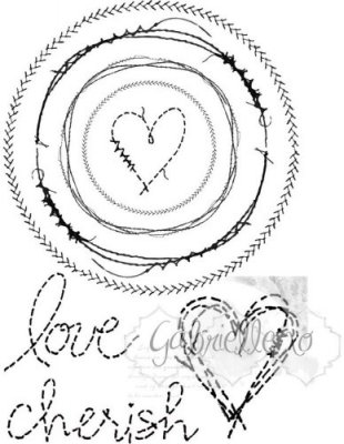 49 & Market Clear Stamps - Gabis Circle Stitch