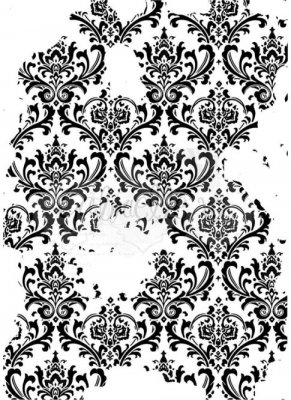 49 & Market Clear Stamps - Faded Damask