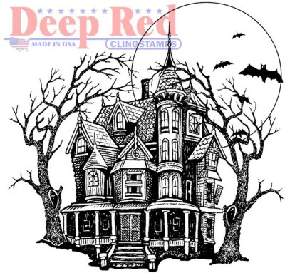 Deep Red Cling Stamp - Haunted Mansion
