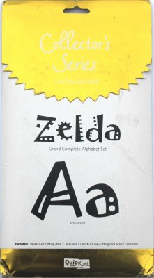 Quickutz Grand 4x8 Complete Alphabet Set - Zelda