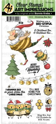 Art Impressions Clear Stamp Set - Christmas Bee