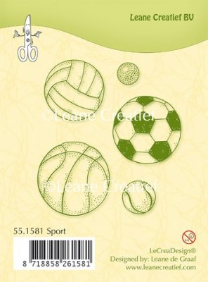 Leane Creatief Clear Stamps - Sport