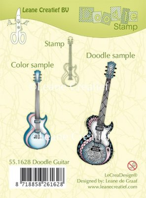 Leane Creatief Clear Stamps - Doodle Guitar