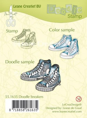 Leane Creatief Clear Stamps - Doodle Sneakers