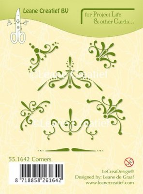 Leane Creatief Project Life & Cards Clear Stamps - Corners