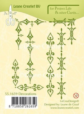 Leane Creatief Project Life & Cards Clear Stamps - Decorations